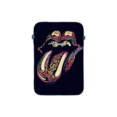 The Rolling Stones Glowing Apple Ipad Mini Protective Soft Cases by Brittlevirginclothing