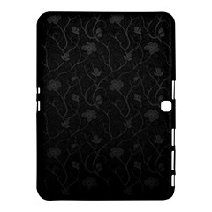 Dark Silvered Flower Samsung Galaxy Tab 4 (10 1 ) Hardshell Case  by Brittlevirginclothing