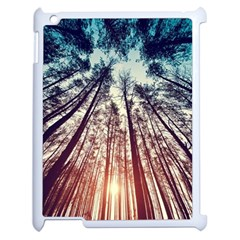 Up View Forest  Apple Ipad 2 Case (white) by Brittlevirginclothing
