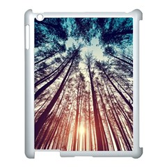 Up View Forest  Apple Ipad 3/4 Case (white) by Brittlevirginclothing