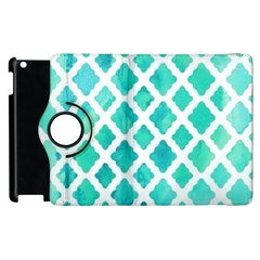 Blue Mosaic Apple Ipad 2 Flip 360 Case by Brittlevirginclothing
