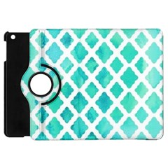 Blue Mosaic Apple Ipad Mini Flip 360 Case by Brittlevirginclothing