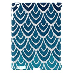 Blue Fish Scale  Apple Ipad 3/4 Hardshell Case (compatible With Smart Cover) by Brittlevirginclothing