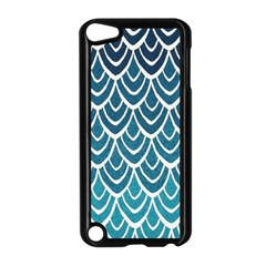 Blue Fish Scale  Apple Ipod Touch 5 Case (black) by Brittlevirginclothing