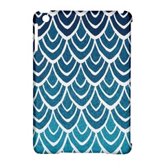 Blue Fish Scale  Apple Ipad Mini Hardshell Case (compatible With Smart Cover) by Brittlevirginclothing
