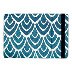 Blue Fish Scale  Samsung Galaxy Tab Pro 10 1  Flip Case by Brittlevirginclothing