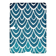 Blue Fish Scale  Samsung Galaxy Tab S (10 5 ) Hardshell Case  by Brittlevirginclothing