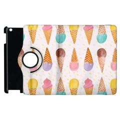Cute Ice Cream Apple Ipad 3/4 Flip 360 Case by Brittlevirginclothing