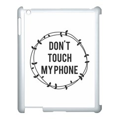 Dont Touch My Phone  Apple Ipad 3/4 Case (white) by Brittlevirginclothing