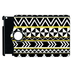 Black Bohemian Apple Ipad 2 Flip 360 Case by Brittlevirginclothing