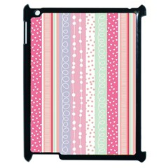Pink Wood  Apple Ipad 2 Case (black) by Brittlevirginclothing