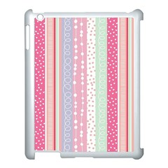 Pink Wood  Apple Ipad 3/4 Case (white) by Brittlevirginclothing