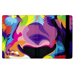 Colorful Lion Apple Ipad 2 Flip Case by Brittlevirginclothing