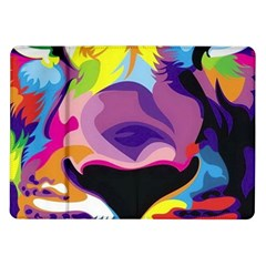 Colorful Lion Samsung Galaxy Tab 10 1  P7500 Flip Case by Brittlevirginclothing
