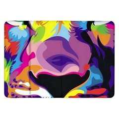 Colorful Lion Samsung Galaxy Tab 8 9  P7300 Flip Case by Brittlevirginclothing