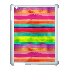 Colorful Wet Paper Apple Ipad 3/4 Case (white) by Brittlevirginclothing