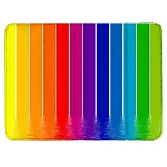 Faded Rainbow Samsung Galaxy Tab 7  P1000 Flip Case by Brittlevirginclothing