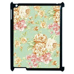 Vintage Pastel Flowers Apple Ipad 2 Case (black) by Brittlevirginclothing