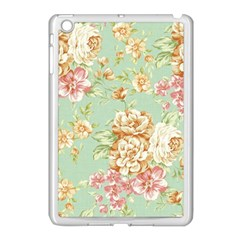 Vintage Pastel Flowers Apple Ipad Mini Case (white) by Brittlevirginclothing
