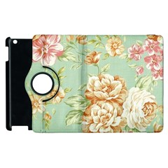 Vintage Pastel Flowers Apple Ipad 3/4 Flip 360 Case by Brittlevirginclothing