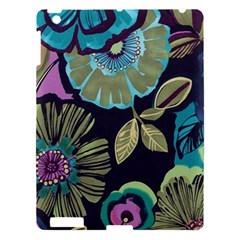 Dark Lila Flowers Apple Ipad 3/4 Hardshell Case by Brittlevirginclothing