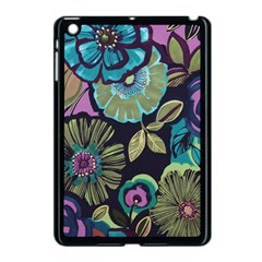 Dark Lila Flowers Apple Ipad Mini Case (black) by Brittlevirginclothing
