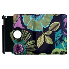 Dark Lila Flowers Apple Ipad 3/4 Flip 360 Case by Brittlevirginclothing