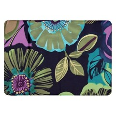 Dark Lila Flowers Samsung Galaxy Tab 8 9  P7300 Flip Case by Brittlevirginclothing