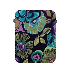 Dark Lila Flowers Apple Ipad 2/3/4 Protective Soft Cases