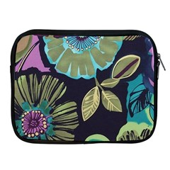 Dark Lila Flowers Apple Ipad 2/3/4 Zipper Cases by Brittlevirginclothing