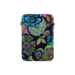 Dark Lila Flowers Apple Ipad Mini Protective Soft Cases by Brittlevirginclothing