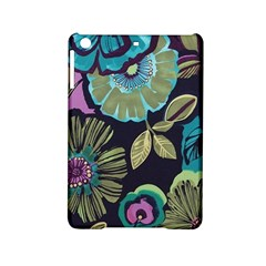 Dark Lila Flowers Ipad Mini 2 Hardshell Cases by Brittlevirginclothing
