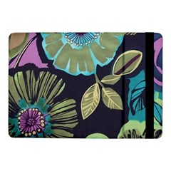 Dark Lila Flowers Samsung Galaxy Tab Pro 10 1  Flip Case by Brittlevirginclothing