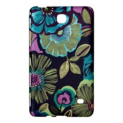 Dark Lila Flowers Samsung Galaxy Tab 4 (7 ) Hardshell Case  by Brittlevirginclothing