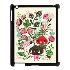 Cute Cartoon Apple Ipad 3/4 Case (black) by Brittlevirginclothing