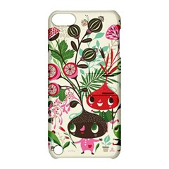 Cute Cartoon Apple Ipod Touch 5 Hardshell Case With Stand by Brittlevirginclothing
