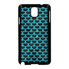 Scales3 Black Marble & Turquoise Marble Samsung Galaxy Note 3 Neo Hardshell Case (black) by trendistuff