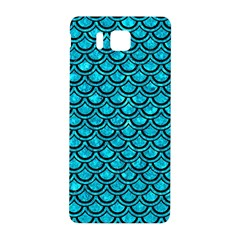 Scales2 Black Marble & Turquoise Marble (r) Samsung Galaxy Alpha Hardshell Back Case by trendistuff