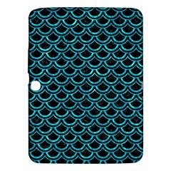 Scales2 Black Marble & Turquoise Marble Samsung Galaxy Tab 3 (10 1 ) P5200 Hardshell Case  by trendistuff