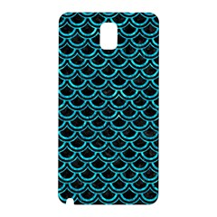 Scales2 Black Marble & Turquoise Marble Samsung Galaxy Note 3 N9005 Hardshell Back Case by trendistuff