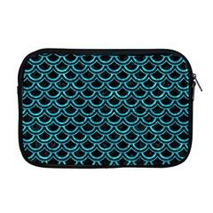Scales2 Black Marble & Turquoise Marble Apple Macbook Pro 17  Zipper Case by trendistuff