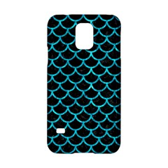 Scales1 Black Marble & Turquoise Marble Samsung Galaxy S5 Hardshell Case  by trendistuff