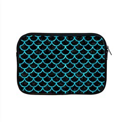 Scales1 Black Marble & Turquoise Marble Apple Macbook Pro 15  Zipper Case