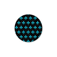 Royal1 Black Marble & Turquoise Marble (r) Golf Ball Marker (4 Pack) by trendistuff