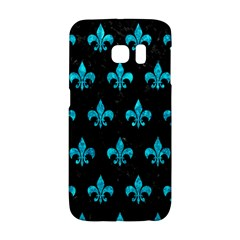 Royal1 Black Marble & Turquoise Marble (r) Samsung Galaxy S6 Edge Hardshell Case by trendistuff