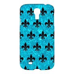 Royal1 Black Marble & Turquoise Marble Samsung Galaxy S4 I9500/i9505 Hardshell Case by trendistuff