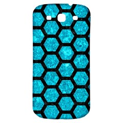 Hexagon2 Black Marble & Turquoise Marble (r) Samsung Galaxy S3 S Iii Classic Hardshell Back Case by trendistuff