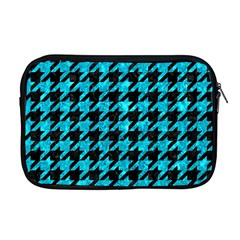 Houndstooth1 Black Marble & Turquoise Marble Apple Macbook Pro 17  Zipper Case