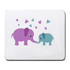 Elephant Love Large Mousepads by Valentinaart