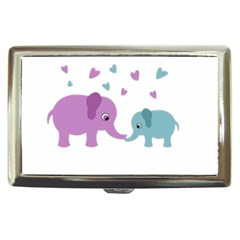 Elephant Love Cigarette Money Cases by Valentinaart